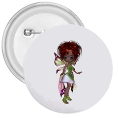 Fairy magic faerie in a dress 3  Button