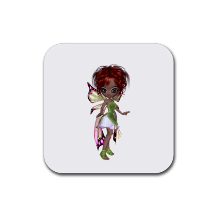 Fairy magic faerie in a dress Drink Coaster (Square)