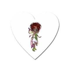 Fairy magic faerie in a dress Magnet (Heart)