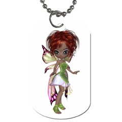 Fairy Magic Faerie In A Dress Dog Tag (two Sided)