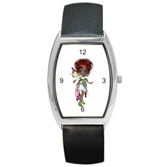 Fairy Magic Faerie In A Dress Tonneau Leather Watch