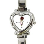 Fairy magic faerie in a dress Heart Italian Charm Watch  Front