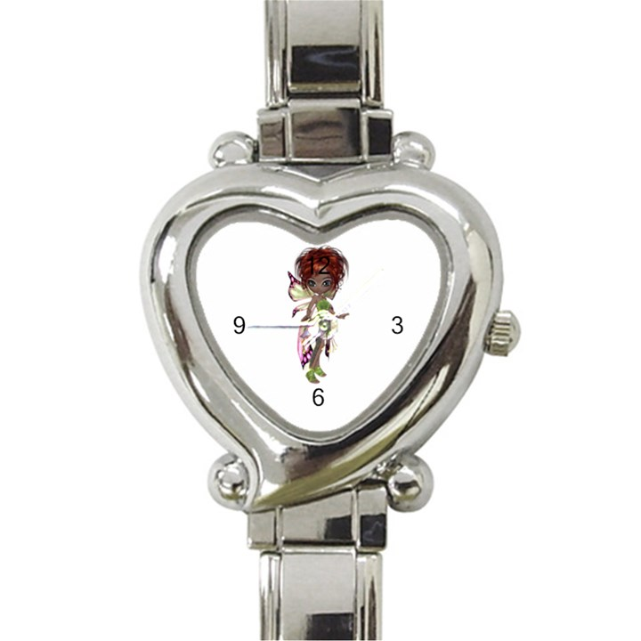 Fairy magic faerie in a dress Heart Italian Charm Watch