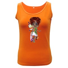 Fairy Magic Faerie In A Dress Womens  Tank Top (dark Colored)