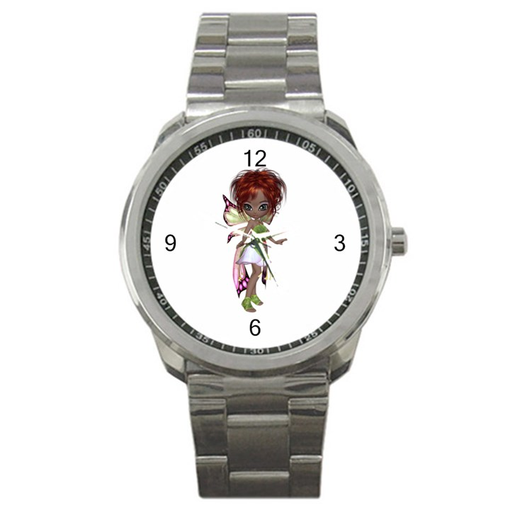 Fairy magic faerie in a dress Sport Metal Watch