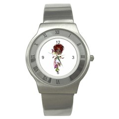 Fairy Magic Faerie In A Dress Stainless Steel Watch (slim)