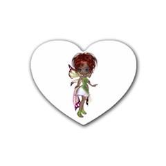 Fairy magic faerie in a dress Drink Coasters (Heart)