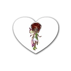 Fairy magic faerie in a dress Drink Coasters 4 Pack (Heart)