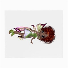 Fairy Magic Faerie In A Dress Glasses Cloth (small, Two Sided)