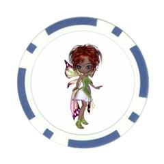 Fairy magic faerie in a dress Poker Chip