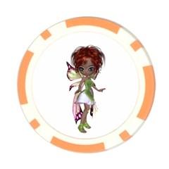 Fairy Magic Faerie In A Dress Poker Chip (10 Pack)