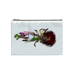 Fairy Magic Faerie In A Dress Cosmetic Bag (medium)