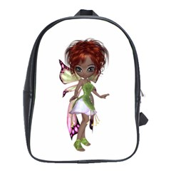 Fairy magic faerie in a dress School Bag (Large)