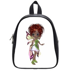 Fairy magic faerie in a dress School Bag (Small)