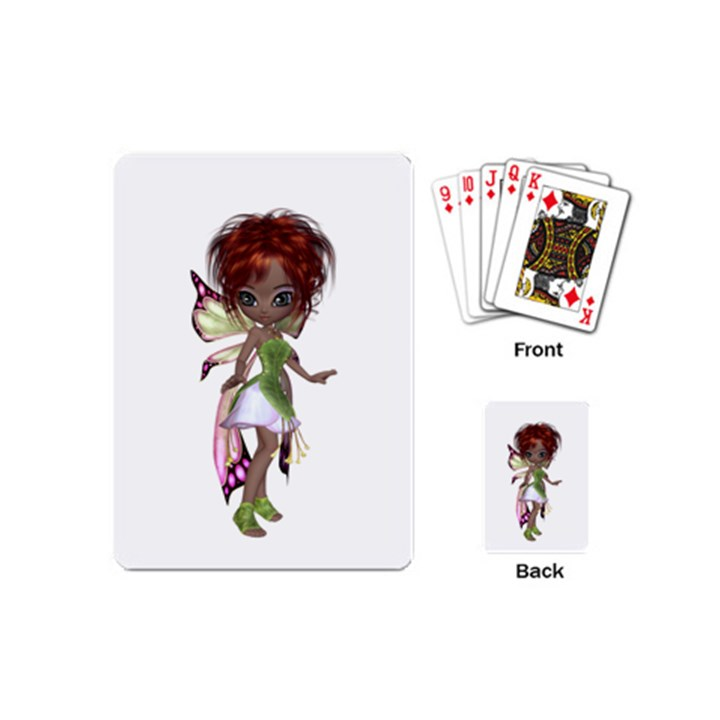 Fairy magic faerie in a dress Playing Cards (Mini)