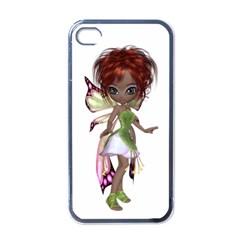 Fairy Magic Faerie In A Dress Apple Iphone 4 Case (black)