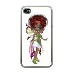 Fairy Magic Faerie In A Dress Apple Iphone 4 Case (clear)