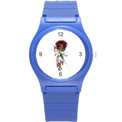 Fairy magic faerie in a dress Plastic Sport Watch (Small)
