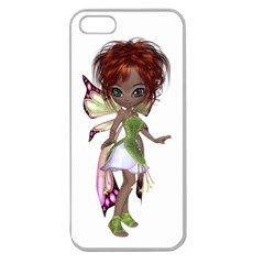 Fairy magic faerie in a dress Apple Seamless iPhone 5 Case (Clear)