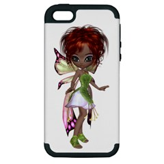 Fairy magic faerie in a dress Apple iPhone 5 Hardshell Case (PC+Silicone)