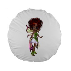 Fairy Magic Faerie In A Dress 15  Premium Round Cushion