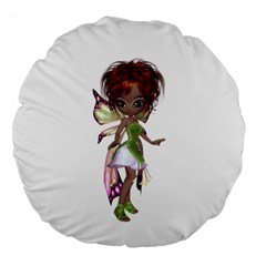 Fairy magic faerie in a dress 18  Premium Round Cushion