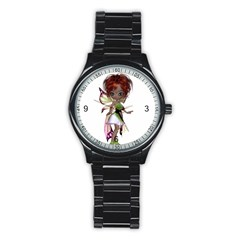 Fairy Magic Faerie In A Dress Sport Metal Watch (black)