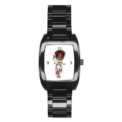 Fairy magic faerie in a dress Stainless Steel Barrel Watch