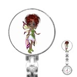 Fairy magic faerie in a dress Stainless Steel Nurses Watch Front