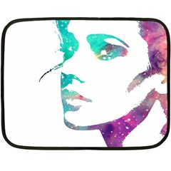 Cosmic Face Mini Fleece Blanket (Two Sided)