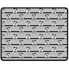 Pit Bull T-Bone Fleece Blanket (Medium)