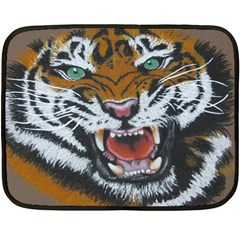The Eye Of The Tiger Mini Fleece Blanket (two Sided)