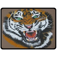 The Eye of the Tiger Fleece Blanket (Extra Large)
