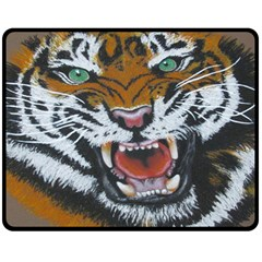 The Eye Of The Tiger Fleece Blanket (medium)