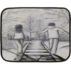 Intertwined Couple Mini Fleece Blanket (Single Sided)