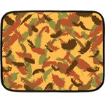 Feathers Fall Mini Fleece Blanket (Two Sided) 35 x27 Blanket Front