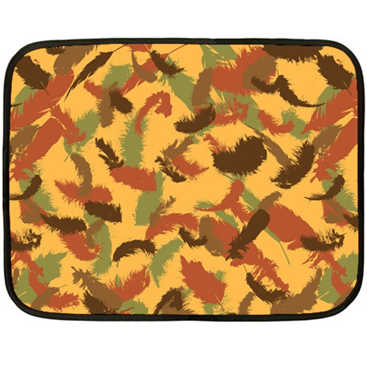 Feathers Fall Mini Fleece Blanket (Two Sided)