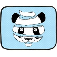 Panda Mini Fleece Blanket (two Sided)