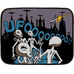 The Ufo Mini Fleece Blanket (single Sided)