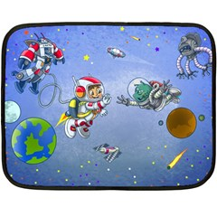 Interplanetary High Five/three Mini Fleece Blanket (single Sided)