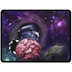 Thy Planet Is Mine! Fleece Blanket (extra Large)