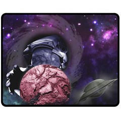 Thy Planet Is Mine! Fleece Blanket (medium)