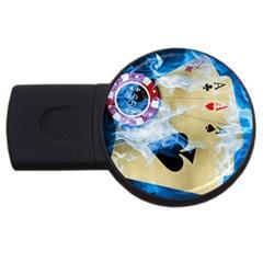 HDesigns 2GB USB Flash Drive (Round)