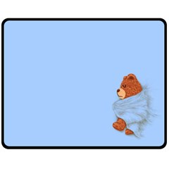 ssssssttttttt... My Teddy was sleeping  Fleece Blanket (Medium)
