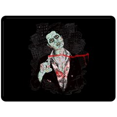 Mr  Dead Line Fleece Blanket (extra Large)