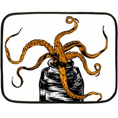 octopus ink Mini Fleece Blanket (Two Sided)