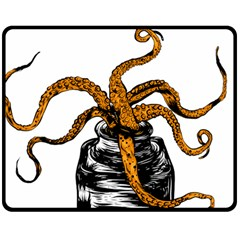 octopus ink Fleece Blanket (Medium)