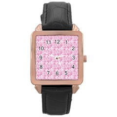 Anatomy Rose Gold Leather Watch