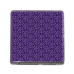 Leopard Print Memory Card Reader with Storage (Square)