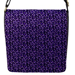 Leopard Print Flap Closure Messenger Bag (Small)